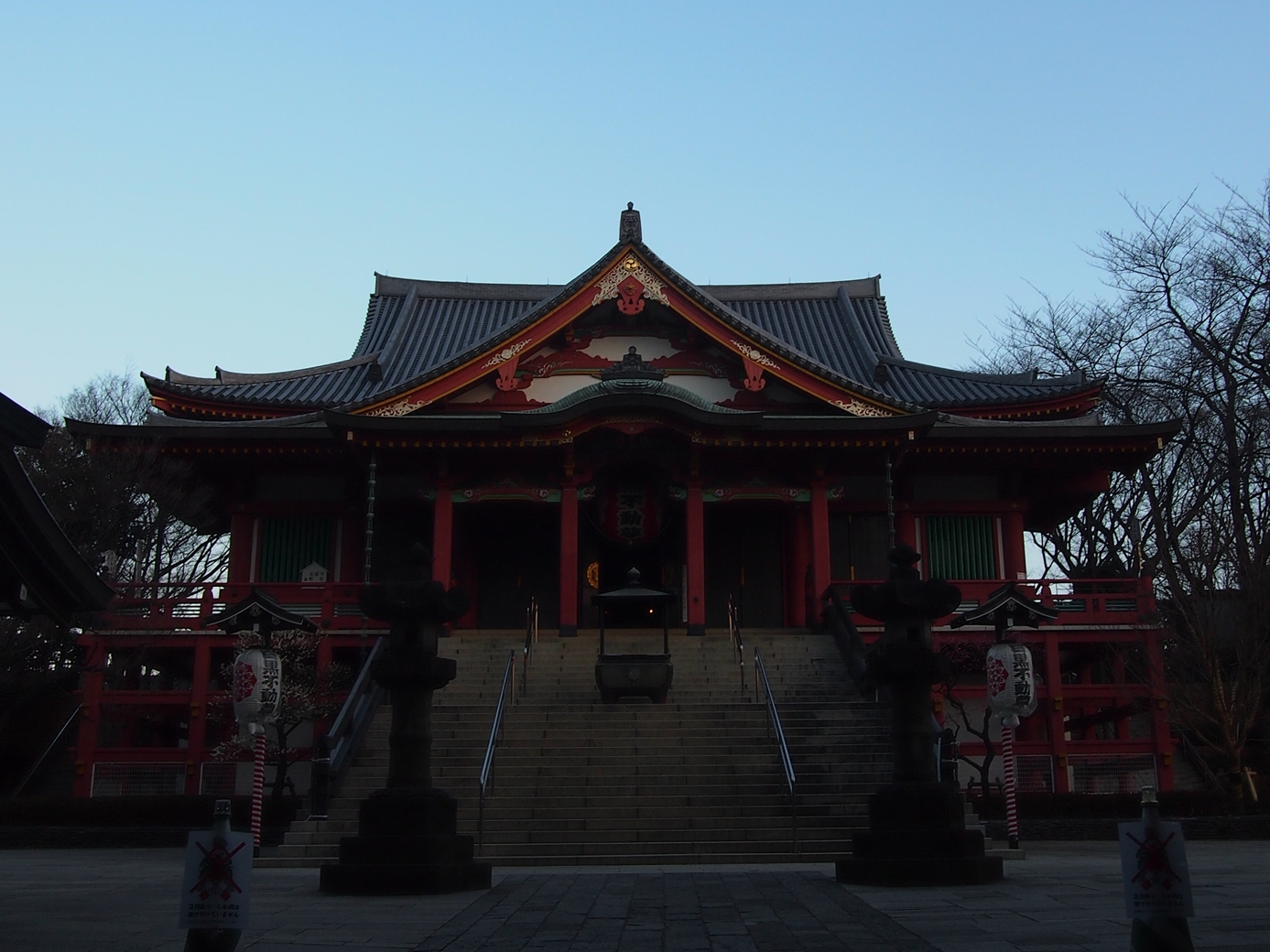 目黒不動尊(龍泉寺)日の出前の本堂